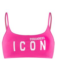 DSquared² Pink Icon Sports Bra