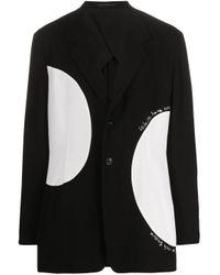 メンズ Yohji Yamamoto カラーブロック ジャケット Black