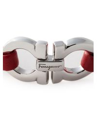 Ferragamo Metallic Gancini Bracelet