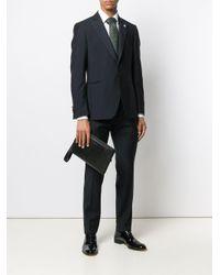 Pochette à fermeture zippée Ermenegildo Zegna pour homme en coloris Black