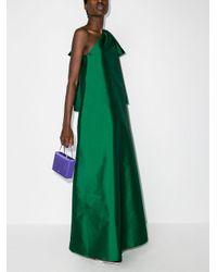 BERNADETTE Winnie ワンショルダー イブニングドレス Green