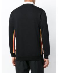 Paul Smith Black Signature Stripe Band Sweater for men