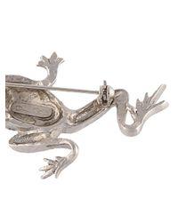 Oscar de la Renta | Gray Frog Brooch | Lyst