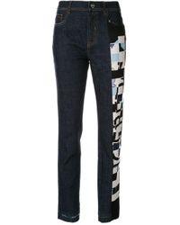 Jeans con stampa di Iceberg in Blue