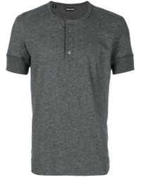 Tom Ford - Gray Henley T-shirt for Men - Lyst