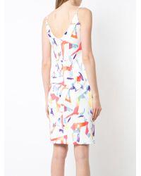 Black Halo - White Printed Dress - Lyst