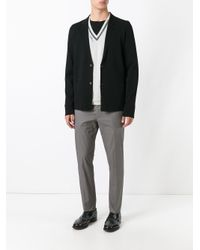 Lanvin - Black Blazer Design Cardigan for Men - Lyst