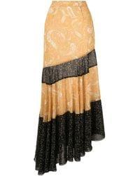 We Are Kindred Yellow Amalfi Asymmetric Skirt