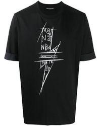 メンズ Neil Barrett Thunderbolt Tシャツ Black