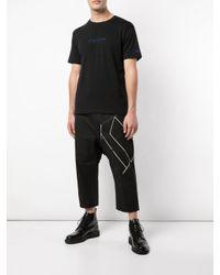 メンズ Yohji Yamamoto ロゴ Tシャツ Black