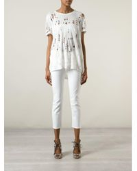 Jeans 'The Looker Crop' di Mother in White