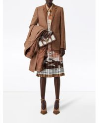 Burberry Brown Montage Print Silk Oversized Shirt