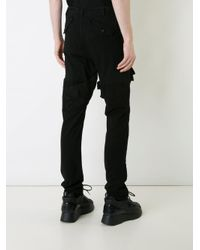 Julius Black Stitched Panel Jeans for men