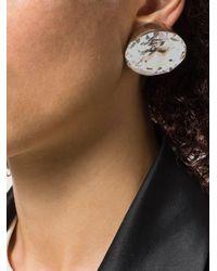 Saint Laurent Metallic 'Smoking' Ohrringe mit Kristallen