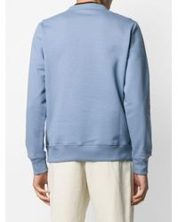 PS by Paul Smith Blue Zebra Patch Crew-neck Sweatshirt for men