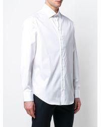 Camicia con colletto alla francese di Giorgio Armani in White da Uomo