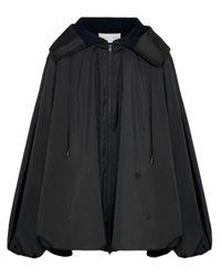 Chaqueta con cremallera y capucha Fenty de color Black
