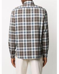 Рубашка В Клетку Brunello Cucinelli для него, цвет: Brown