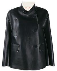 Marni スタンドカラー ジャケット Black