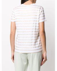 Majestic Filatures ストライプ Tシャツ White