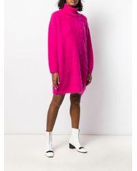 Robe en maille texturée Gianluca Capannolo en coloris Pink