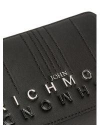 Sac à bandoulière à plaque logo John Richmond en coloris Black