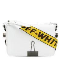 Off-White c/o Virgil Abloh White Binder Clip Crossbody Bag