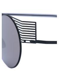 Mykita Black Round Frame Sunglasses
