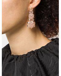 Boucles d'oreilles pendantes à perles Simone Rocha en coloris Pink