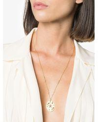 Yvonne Léon Collier Medaillon Ro ダイヤモンド ネックレス 18kイエローゴールド Metallic