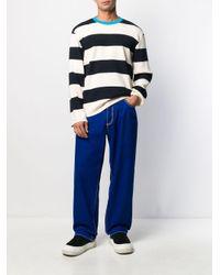 Maglione a righe di Sunnei in Blue da Uomo