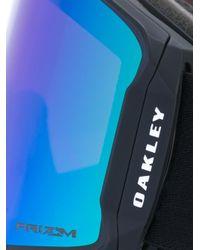 Oakley Black Oversized Iridescent Sunglasses for men