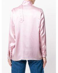 Marques'Almeida シルク ブラウス Pink