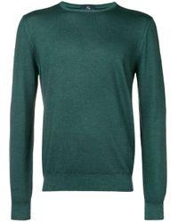 Jersey lviiano con cuello redondo Fay de hombre de color Green