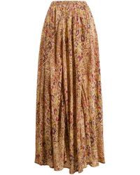 Gonna lunga con stampa paisley di Mes Demoiselles in Brown
