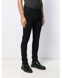Pantaloni con chiusura decentrata di Thom Krom in Black da Uomo
