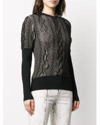 Dior 2000s プレオウンド テクスチャード セーター Black