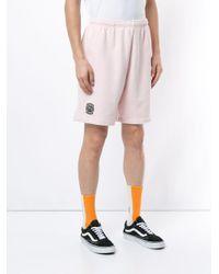 Shorts running Lacoste di Supreme in Pink da Uomo