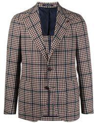 メンズ Tagliatore チェック シングルジャケット Multicolor