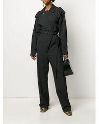 Комбинезон С Широкими Лацканами И Поясом Bottega Veneta, цвет: Black