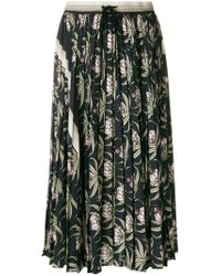 Markus Lupfer - Black Desert Flower Pleated Skirt - Lyst
