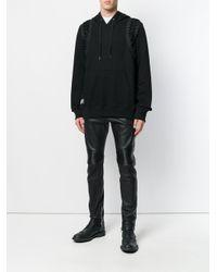 KTZ Black Lace-up Hoodie for men