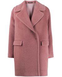 Однобортное Пальто Tagliatore, цвет: Pink