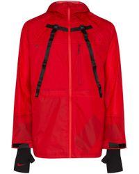 Giacca con cappuccio X MMW di Nike in Red da Uomo