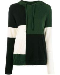 Felpa color-block con cappuccio di Chinti & Parker in Green
