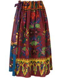 Юбка С Абстрактным Цветочным Принтом Pierre Louis Mascia, цвет: Multicolor