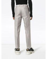メンズ GmbH テーラード ウールパンツ Gray