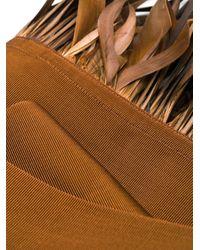 Cinturón ancho con flecos Sara Roka de color Brown