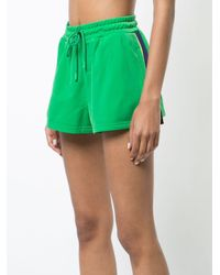 PUMA - Green Terrycloth Zip Up Racing Jacket - Lyst