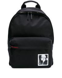 Karl Lagerfeld ロゴパッチ バックパック Black